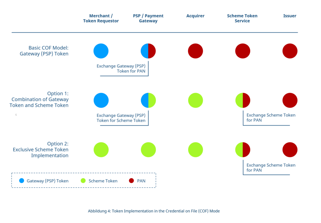 Overviews of different payment tokenization models